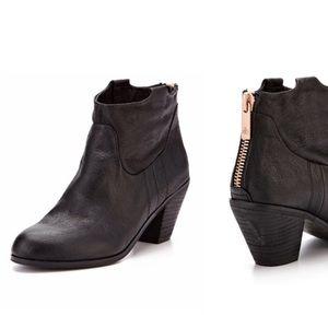 Sam Edelman Lisle Black Leather Ankle Boots